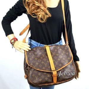 Auth Louis Vuitton Saumur 35 Bag #1083L24